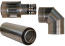 Коаксиальный дымоход для газовых каминов Karma Style 1000 мм в Волгограде